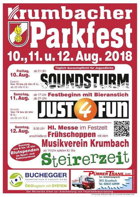 Plakat Parkfest Krumbach 2017